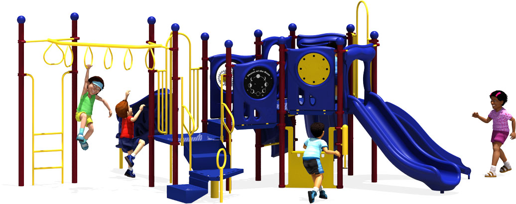 Connect Five - Commercial Playground Equipment - Primary - Back View