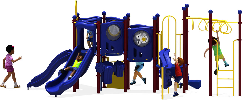 Connect Five - Commercial Playground Equipment - Primary - Front View