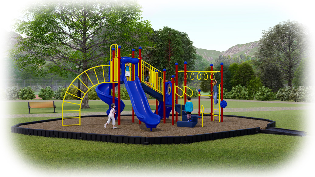 Open Range Playground Bundle - Engineered Wood Fiber - American Parks Company