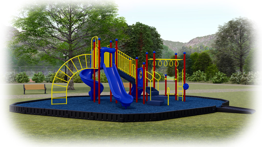 Open Range Playground Bundle - Rubber Mulch - American Parks Company