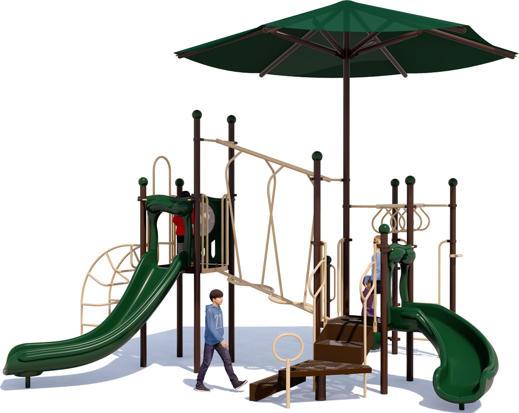 Wiggle Worm Play Structure - Natural Colors - Front View