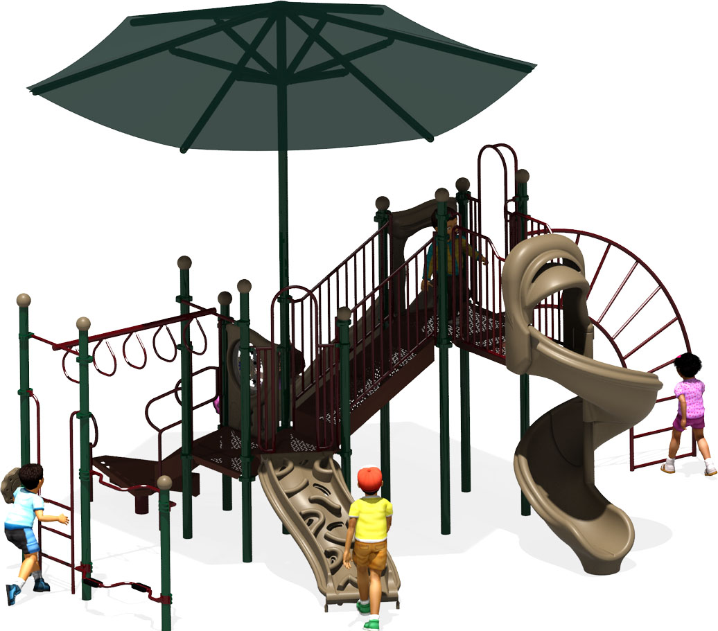 Rising Star Commercial Play Structure - American Parks Company - Back