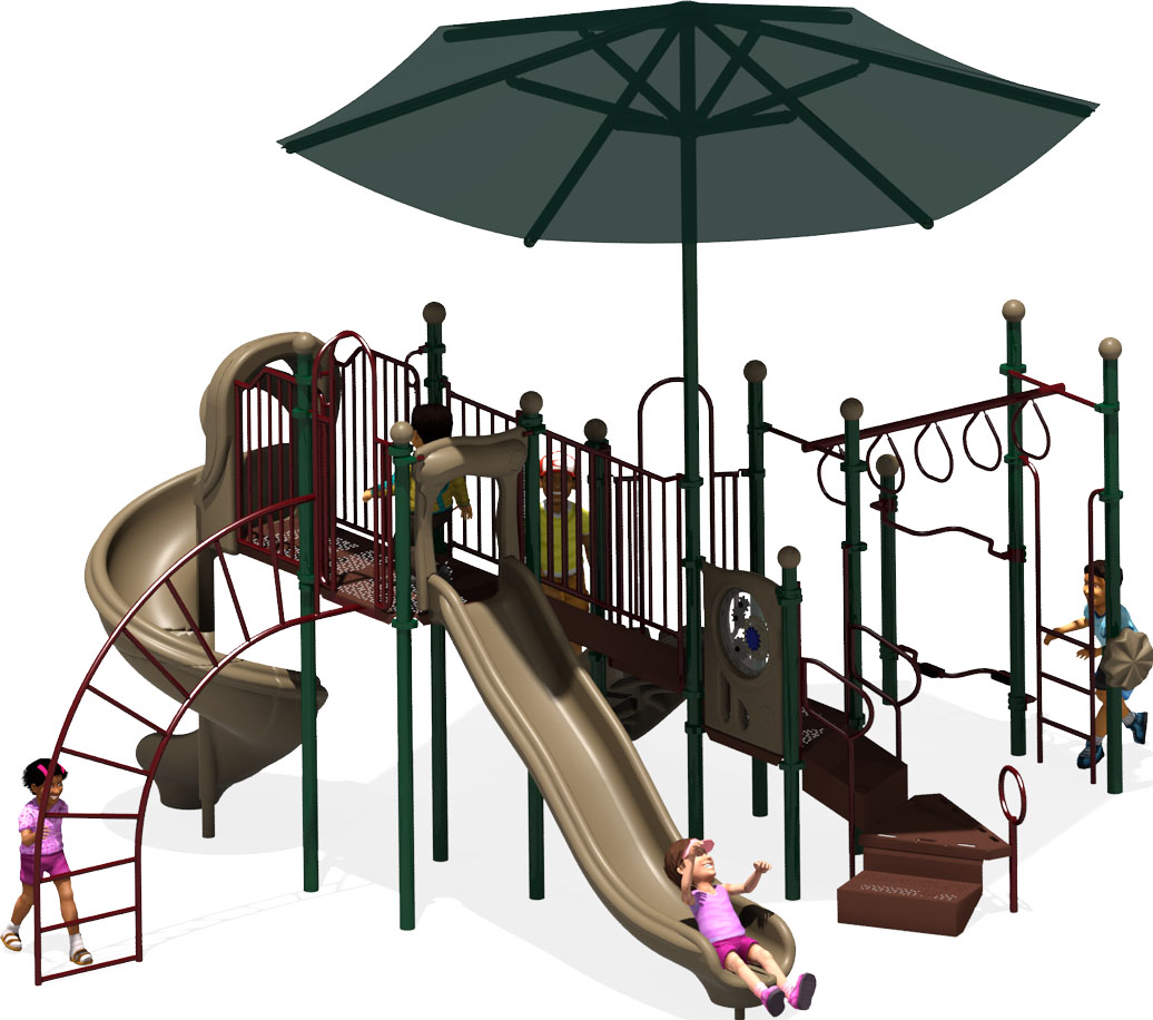Rising Star Commercial Play Structure - American Parks Company - Front