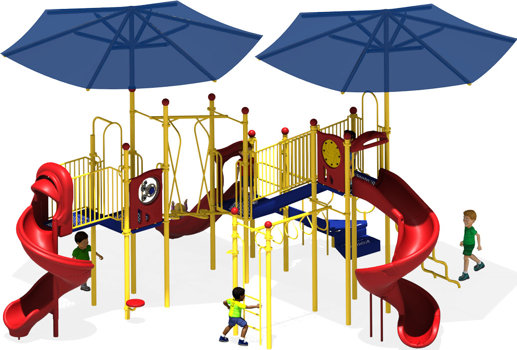 Solar Eclipse - Primary Colors - Commercial Playground Equipment