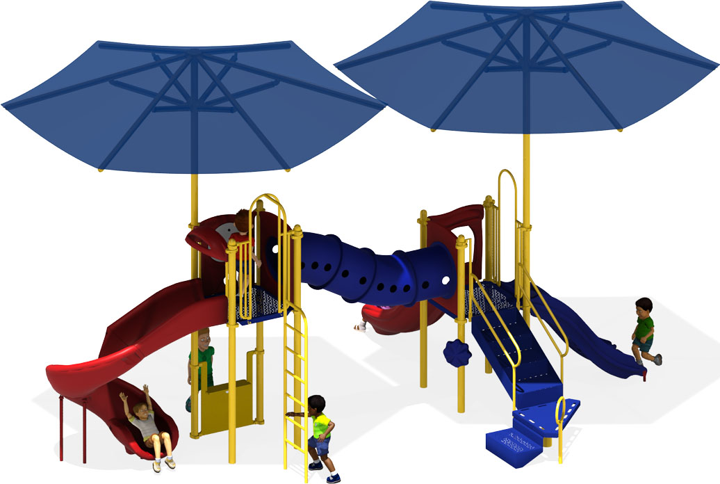 Munchkin Maze - Commercial Playground Equipment for schools, churches, & daycares - Primary Colors