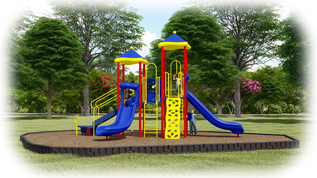 Head Start Playground Bundle - Primary Colors - Engineered Wood Fiber