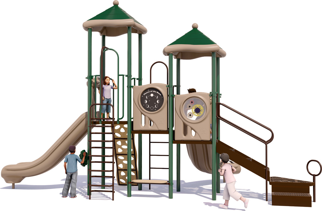 Head Start Play Structure - Back View - Natural Color Scheme