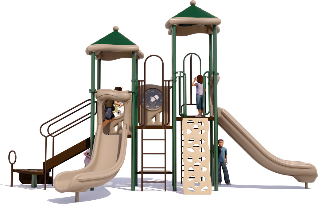 Head Start Play Structure - Front View - Natural Color Scheme