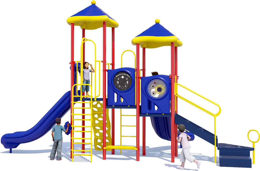 Head Start Play Structure - Back View - Primary Color Scheme