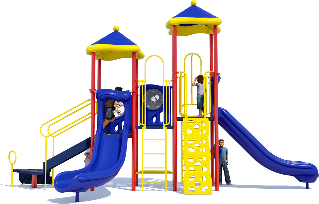 Head Start Play Structure - Front View - Primary Color Scheme