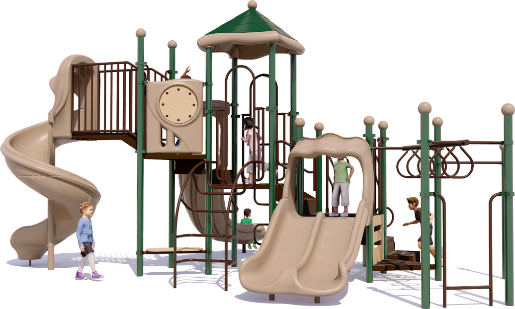 Goodtimes Play Structure - Natural Color Scheme - Front View