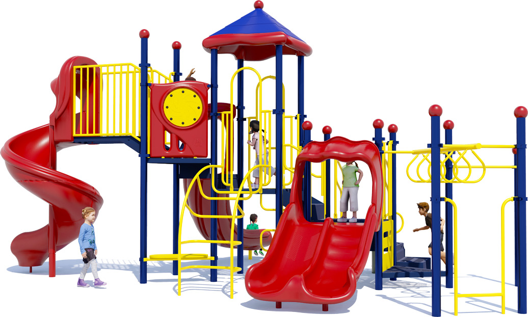 Goodtimes Play Structure - Primary Color Scheme - Front View