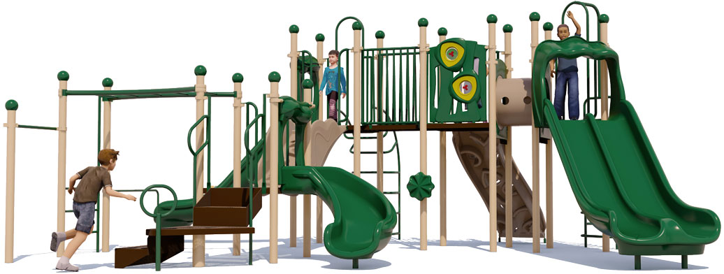 Cheer Delight Play Structure - Natural Colors - Front View