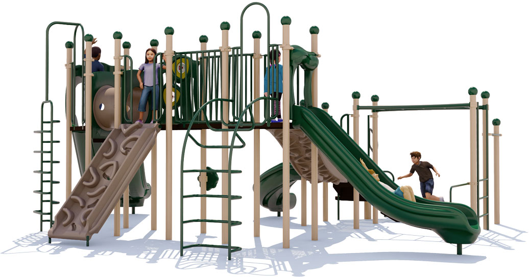 Cheer Delight Play Structure - Natural Colors - Back View