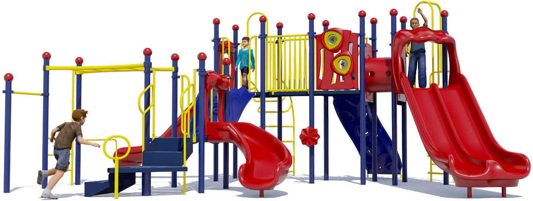 Cheer Delight Play Structure - Primary Colors - Front View