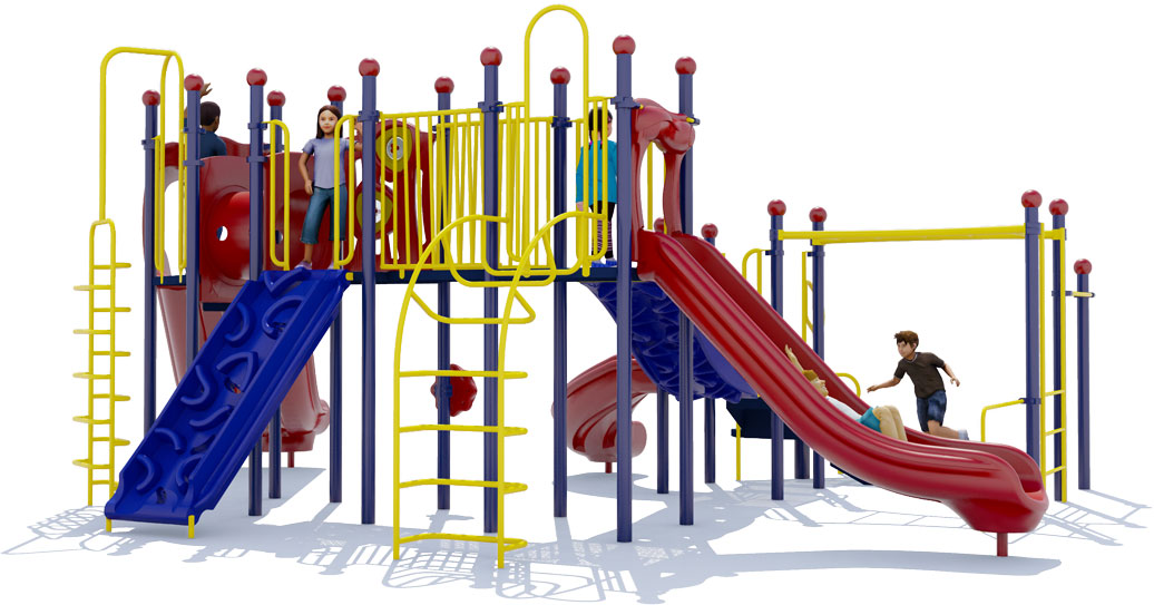 Cheer Delight Play Structure - Primary Colors - Back View