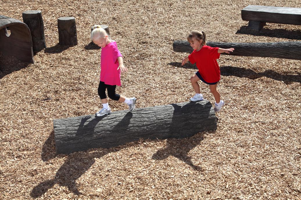 half log balance beam | balance | apcplay - commercial playground equipment