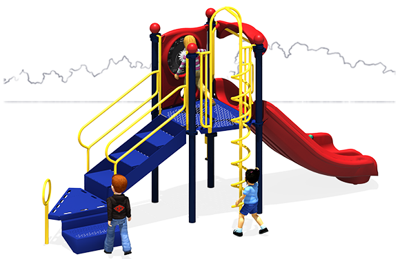 Simple Simon | Playground Equipment | Primary Color Scheme | Back
