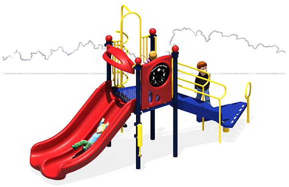 Simple Simon | Playground Equipment | Primary Color Scheme | Front