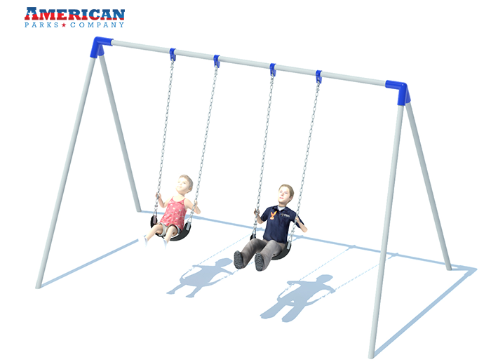 Bi-pod Swing Set | Playground Equipment | American Parks Company