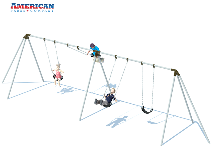 2 Bay Tri-pod Swing Frame | Swing Sets | American Parks Company