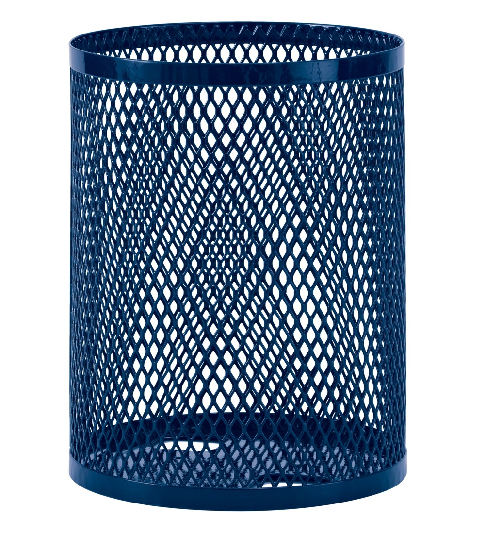 Diamond Pattern Metal Trash Receptacle
