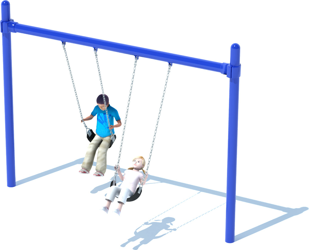 1 Bay Single Post Swing Frame - Commercial Playground Equipment