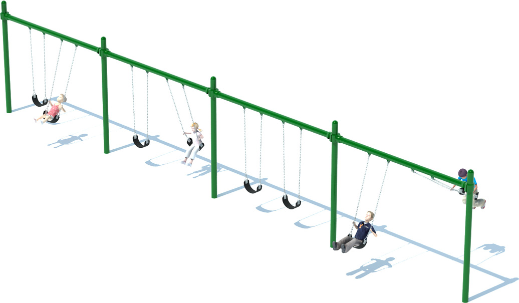 Single Post Swing Sets - American Parks Company - Commercial Playground Equipment