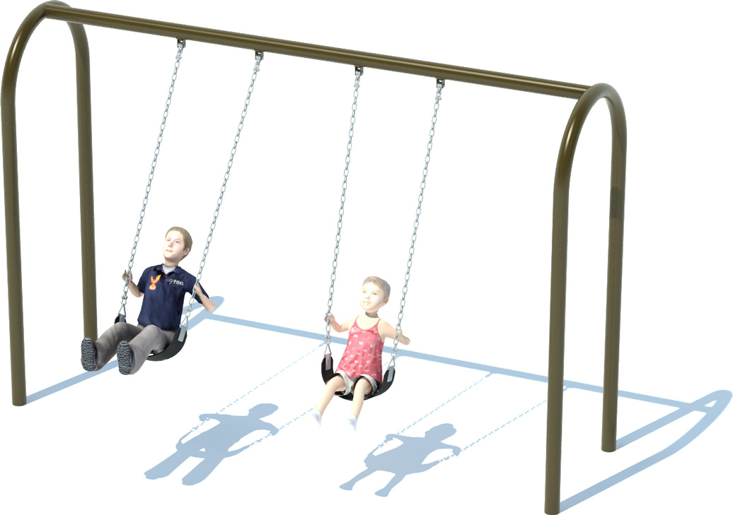 Arch Swing Frame | Swing Sets | American Parks Company - Commercial Playground Equipment