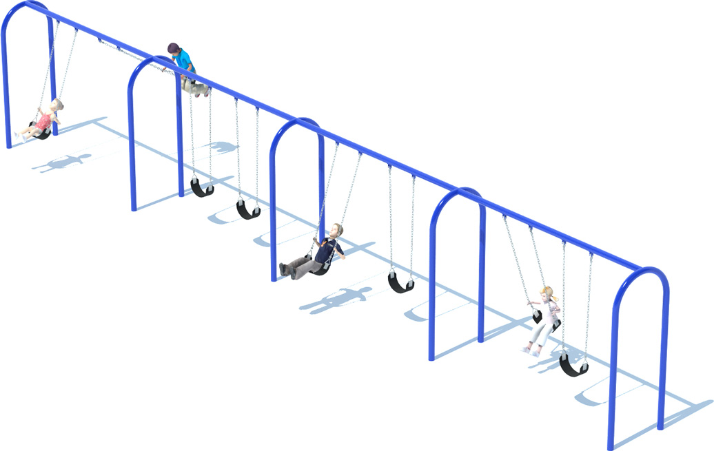 4 Bay Arch Swing Frame | Swing Sets | American Parks Company - Commercial Playground Equipment