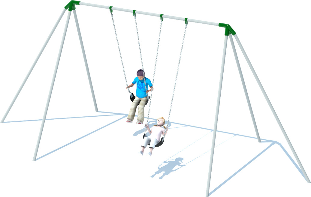 Tri Pod Swing Set Playground Equipment American Parks Company