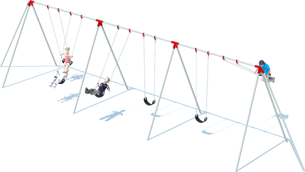 3 Bay Tri-pod Swing Frame | Swing Sets | American Parks Company