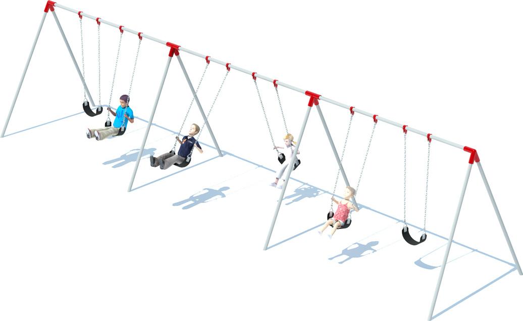 3 Bay Bi-pod Swing Frame | Swing Sets | American Parks Company