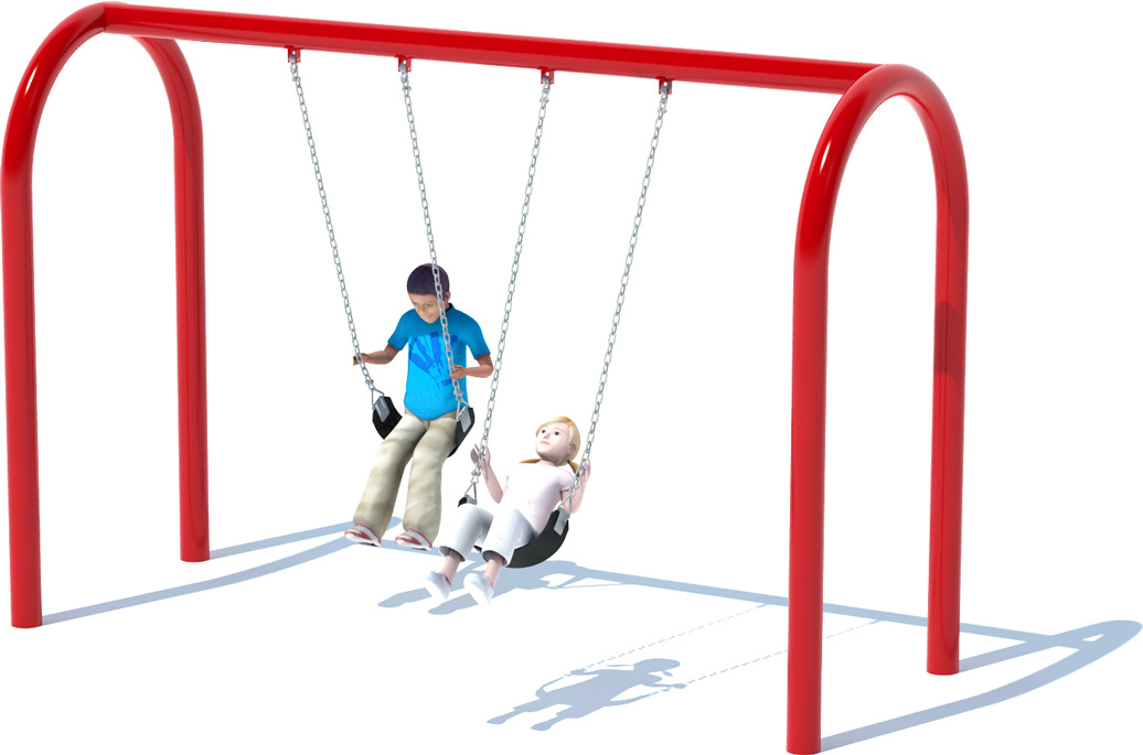 1 Bay Arch Swing Set | Swings | American Parks Company