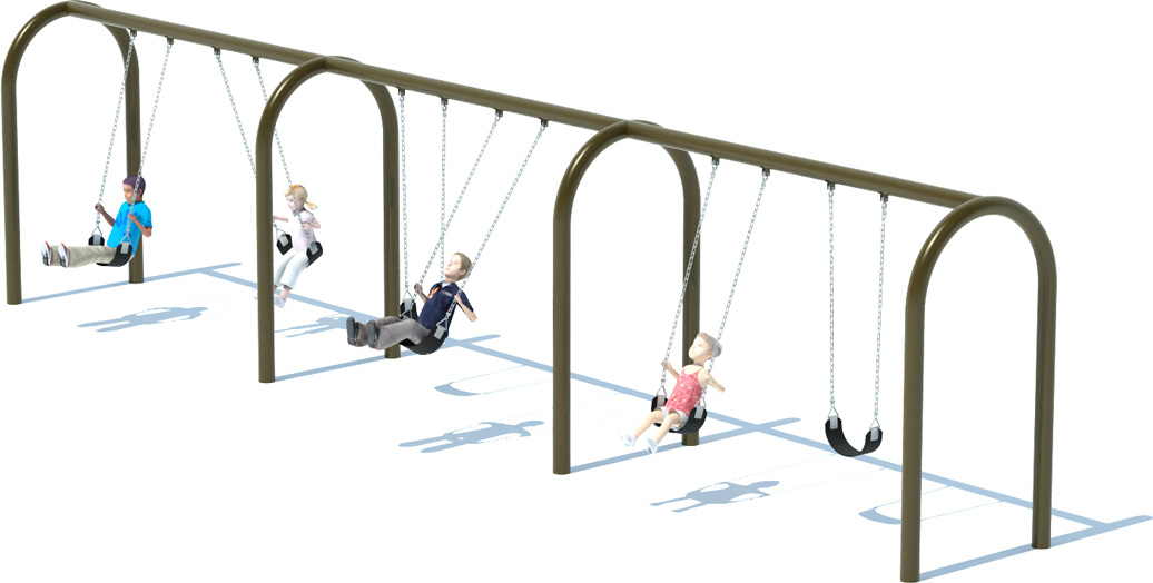 3 Bay Arch Swing Set | Swings | American Parks Company