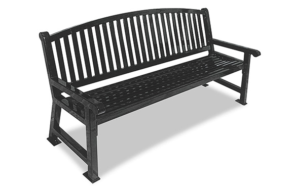 Savannah Bench w/Bow Back