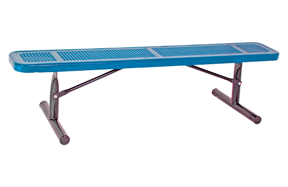 Portable - Perforated Metal Bench w/o Back - Commercial Playground Equipment