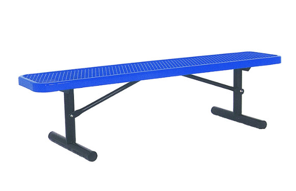 Portable - Expanded Metal Bench w/o Back - Commercial Playground Equipment