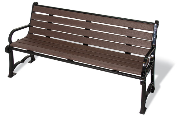 Charleston Recycled Bench - Site Furnishings - Park & Playground Equipment