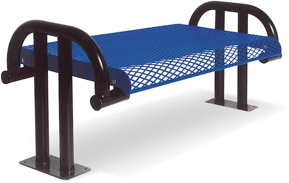 Contoured Cantilevered Bench w/out Back - Site Furnishings - American Parks Company