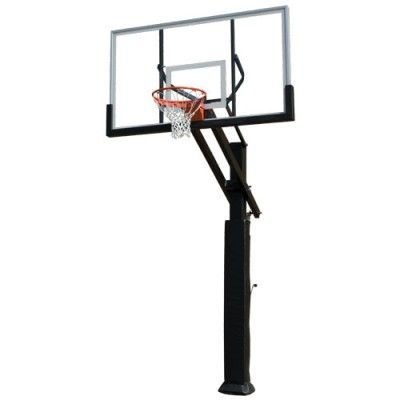 Adjustable Basketball Goal With Breakaway Rim