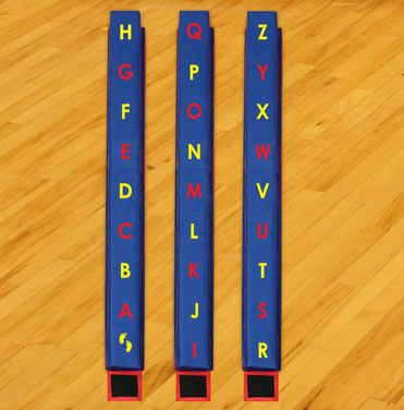 WeeKidz Balance Beams - Alphabet Set of 3
