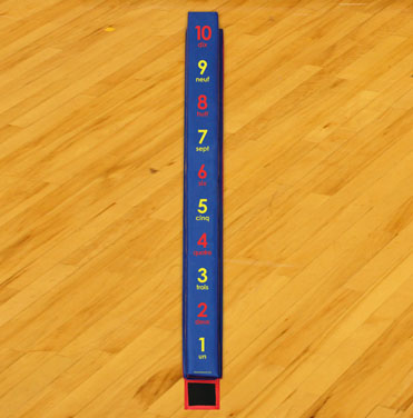 WeeKidz Balance Beam - French Numbers