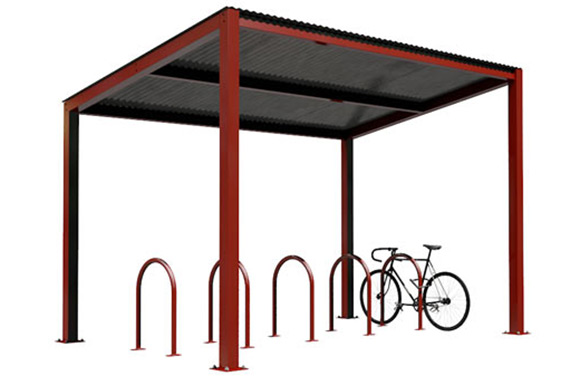 Bike Haven Shelter with Hoop Racks