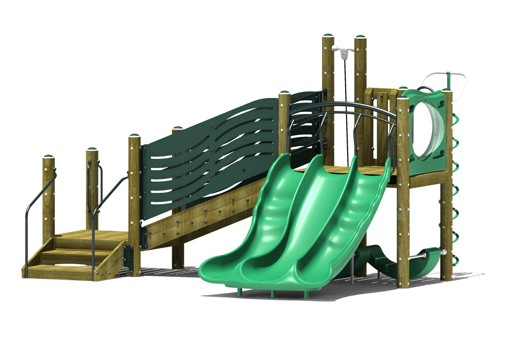 escapade play structure - 3d view