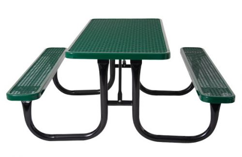 Rectangular Expanded Metal Table - Site Furnishings - Commercial Playground Equipment