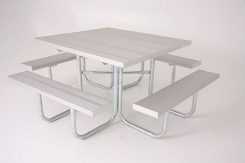 """48"""" Square Aluminum Table"""