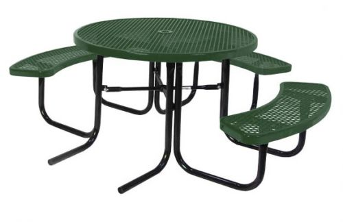 """46"""" Round ADA Expanded Metal Picnic Table"""
