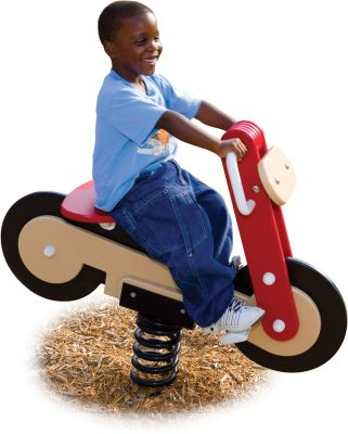 Motorcycle Spring Rider - Daycare Playground Equipment - American Parks Company