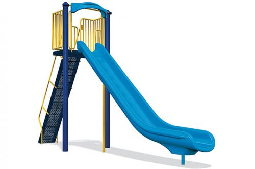 8' Single Velocity Freestanding Slide - Independent Play Products - American Parks Company